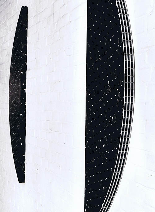 '1 + 1' 1991, Acryl auf Holz, 2x 164 x 40 x 5 cm