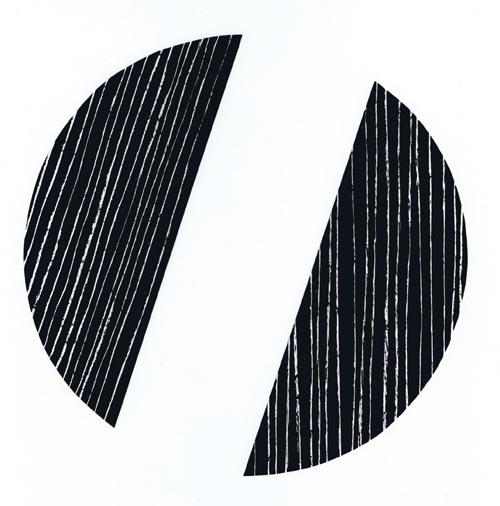 'Segmente 990-VII' 1990, Pastell auf Tafellack/Papier, ca. 40 cm