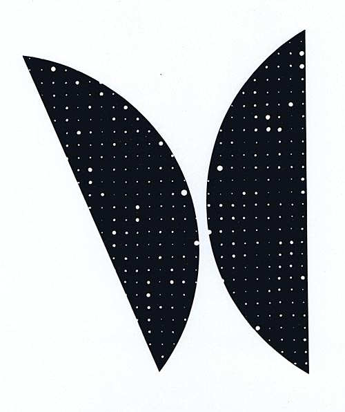'Segmente 990-III' 1990, Acryl auf Papier, ca. 37 cm
