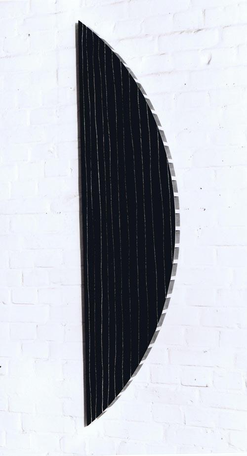 'Segment 991-VI' 1991, Pastell auf Tafellack/Holz, 165 x 40 x 6 cm