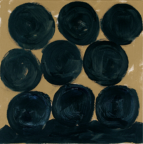 'Neuner' 2007, Acryl auf Nessel, 70 x 70 cm
