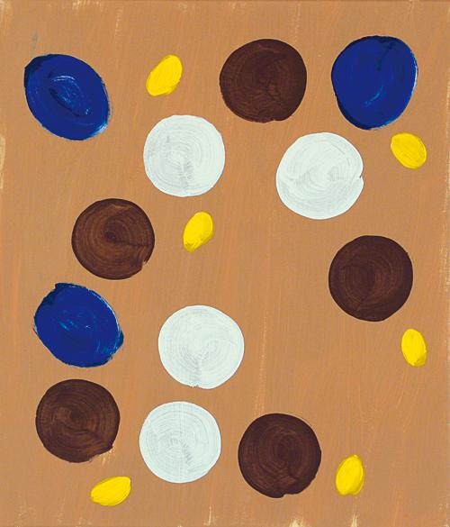 '3 – 4 – 5 – 6' 2007, Acryl auf Nessel, 70 x 60 cm