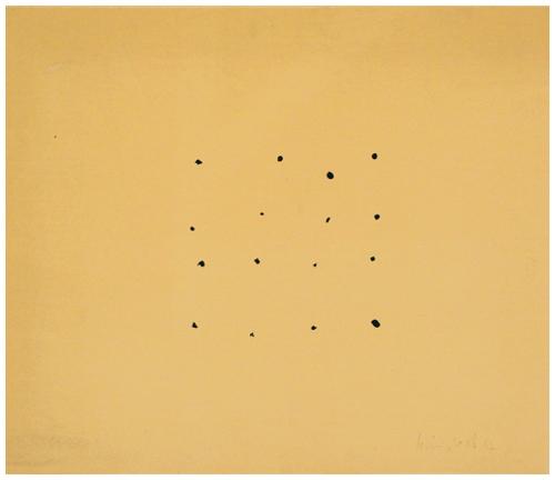 '16 points' 1997, Acryl auf Karton, 67 x 78 cm
