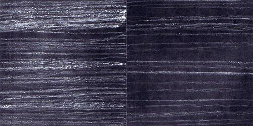 'Links- und Rechtsschreibung (2)' 1990, Kreide/Lack auf Papier, 20 x 40 cm