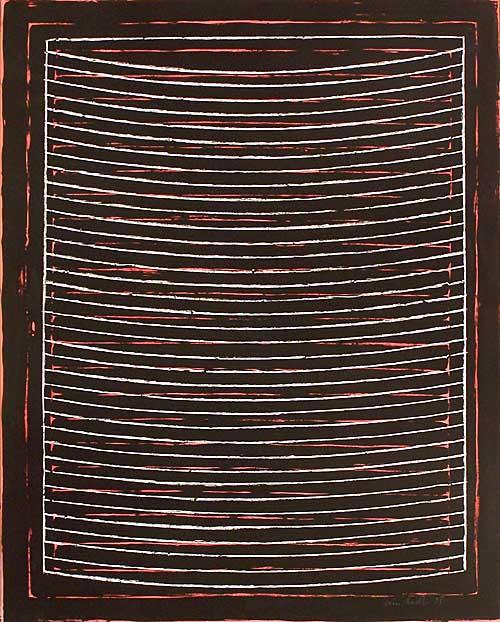 '1 Morgen II', Pastellkreide, Silikatfarbe, Gouache, Papier, 2008, 100 x 80 cm