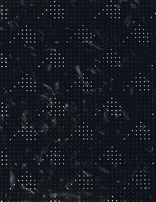 'Fahnen' 1989, Acryl auf Papier, 160 x 200 cm