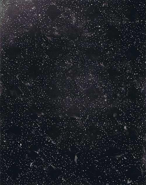 'Lücken' 1989, Acryl auf Papier, 160 x 200 cm