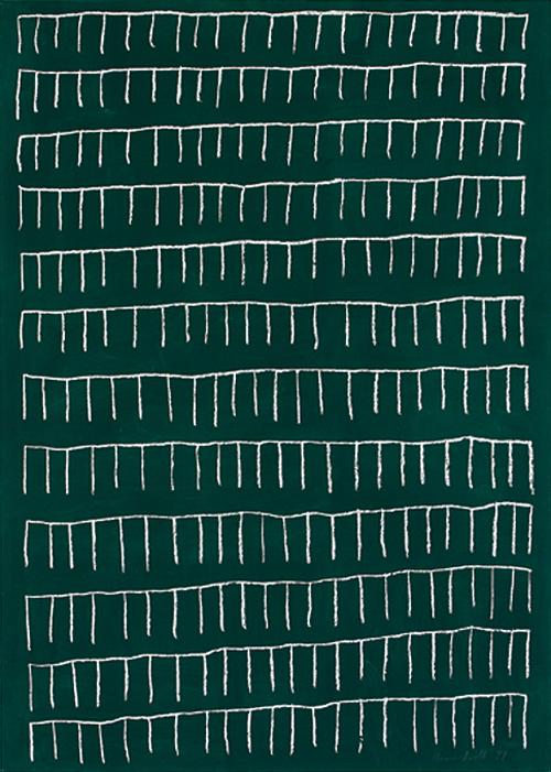 Pastellkreide auf Tafellack auf Papier, 1999, 140 x 100 cm