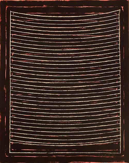 '1 Morgen I' Pastellkreide, Silikatfarbe, Gouache, Papier, 2008, 100 x 80 cm