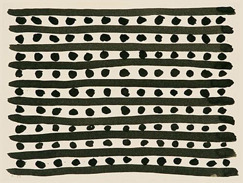 1989, Textilfarbe auf Papier, 30 x 40 cm