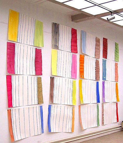 'Das Problem des Wiederaufbaus in der Malerei' 2006 (Installation 300 x 550 cm in Clamart, Paris)